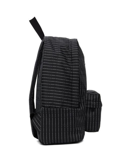 メンズ Maison Margiela ブラック ロゴ ストライプ クラシック バックパック Black