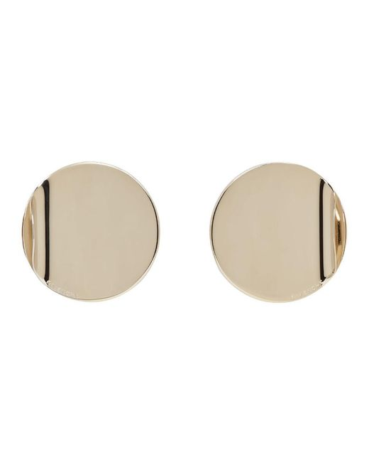 Givenchy - Metallic Gold G-ometric Round Earrings - Lyst