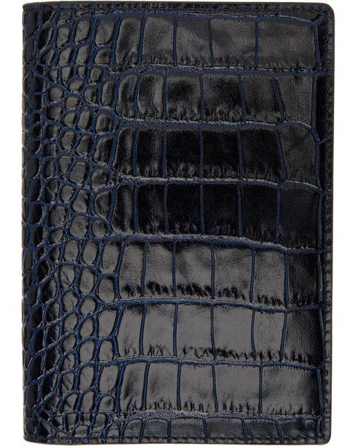 メンズ Smythson ネイビー Mara パスポート ホルダー Blue