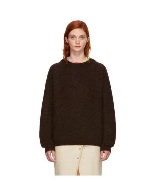 Acne - Brown Wool Dramatic Sweater - Lyst