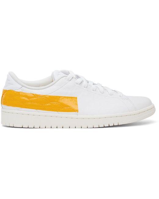 メンズ Nike ホワイト & イエロー Air Jordan 1 Centre Court スニーカー White