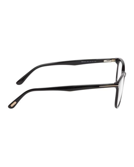 メンズ Tom Ford ブラック スクエア メガネ Natural