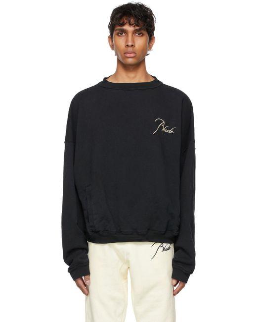 メンズ Rhude Ssense 限定 ブラック Rheverse スウェットシャツ Black