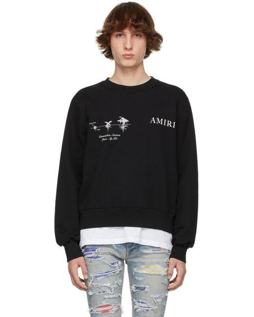 Amiri Black Medical Hemp Sweatshirt for men