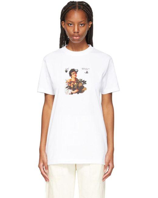 Off-White c/o Virgil Abloh ホワイト & ブラック Caravaggio Boy T シャツ White