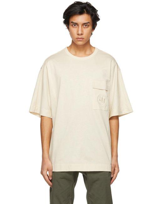 メンズ Juun.J オフホワイト ロゴ ポケット T シャツ White