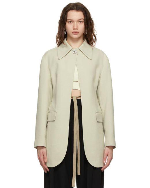 Ambush オフホワイト Jewel Button Suit ブレザー White