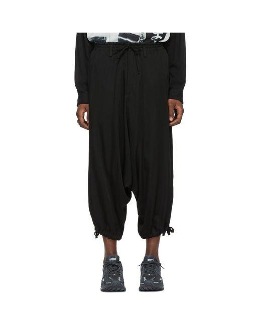 Yohji Yamamoto - Black ブラック ツイル ドロップ インシーム トラウザーズ for Men - Lyst