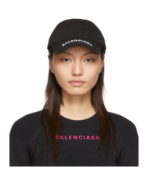 Balenciaga Black Logo Cap