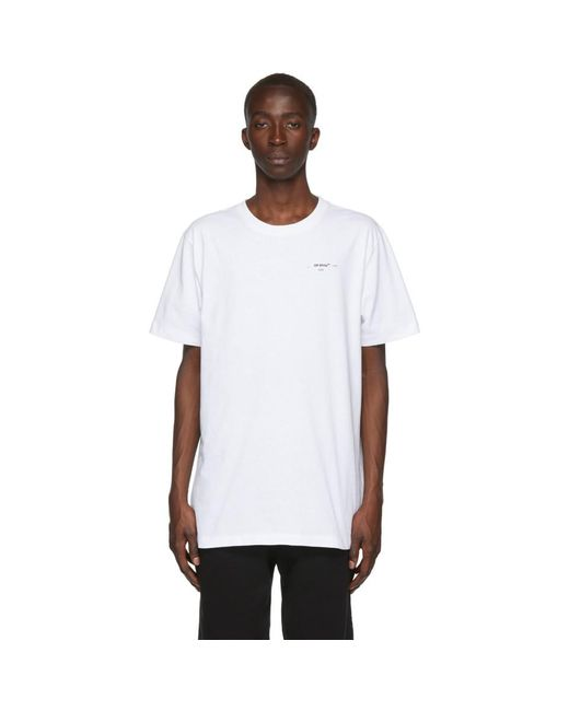 メンズ Off-White c/o Virgil Abloh ホワイト ロゴ スリム T シャツ White
