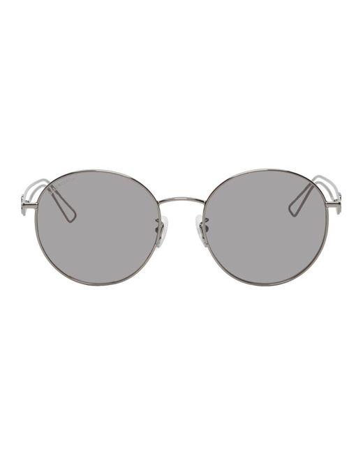 メンズ Balenciaga ガンメタル Inception サングラス Gray