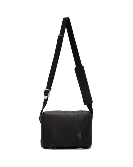 メンズ Loewe ブラック Xs ミリタリー メッセンジャー バッグ Black