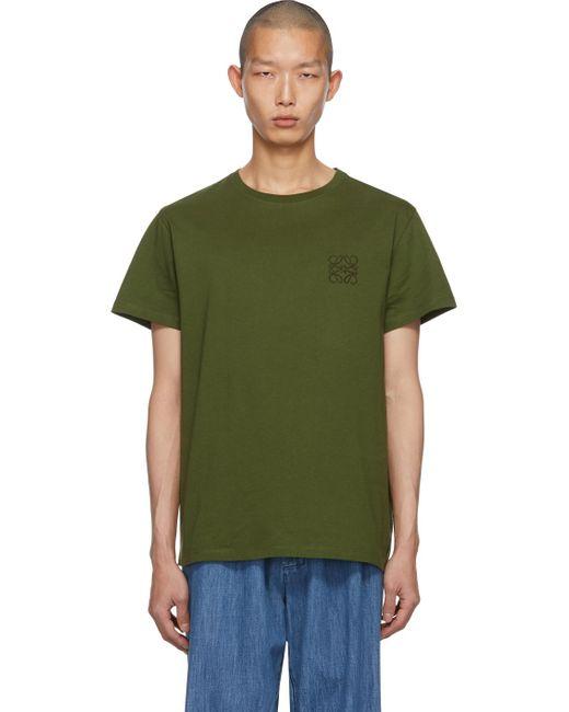 メンズ Loewe グリーン アナグラム T シャツ Green
