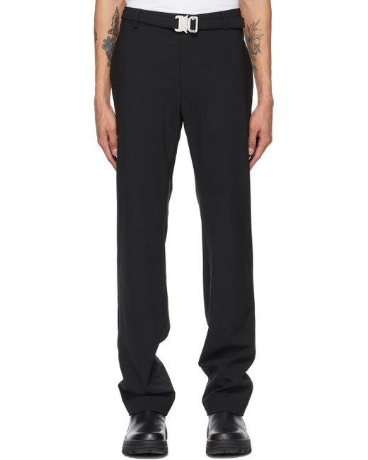 メンズ 1017 ALYX 9SM ブラック Metal Buckle Suit トラウザーズ Black