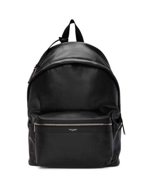Sac a dos mat noir City Saint Laurent pour homme en coloris Black