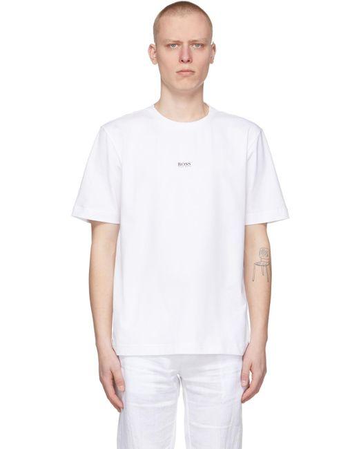 メンズ BOSS by Hugo Boss ホワイト Tchup T シャツ White