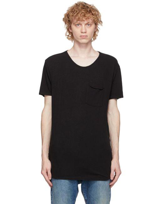 メンズ R13 ブラック ポケット T シャツ Black