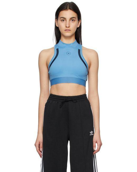 Adidas By Stella McCartney ブルー Truepace クロップド トップ Blue
