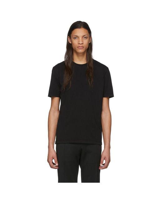 メンズ Maison Margiela ブラック スタンダード T シャツ Black