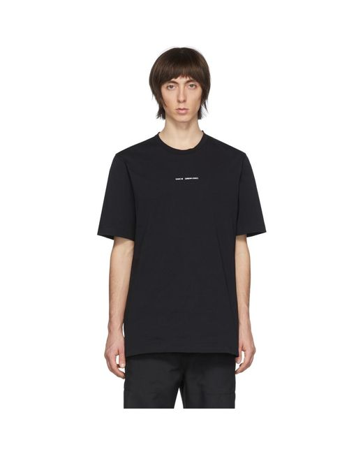 メンズ OAMC ブラック ロゴ T シャツ Black