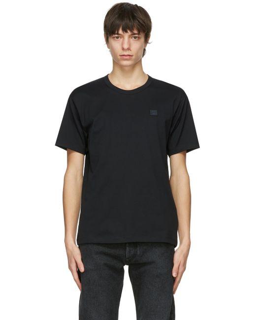メンズ Acne ブラック Patch T シャツ Black