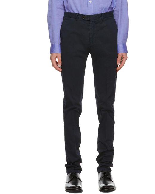 メンズ Ralph Lauren Purple Label ネイビー Eaton チノ トラウザーズ Blue