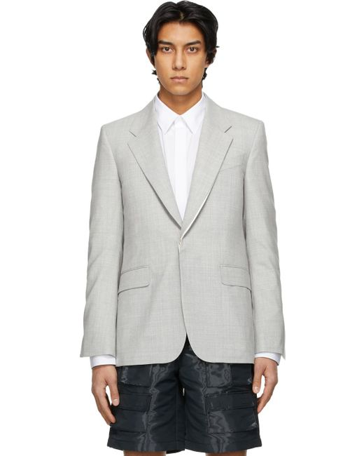 メンズ Givenchy グレー メランジ Iconic ブレザー Gray