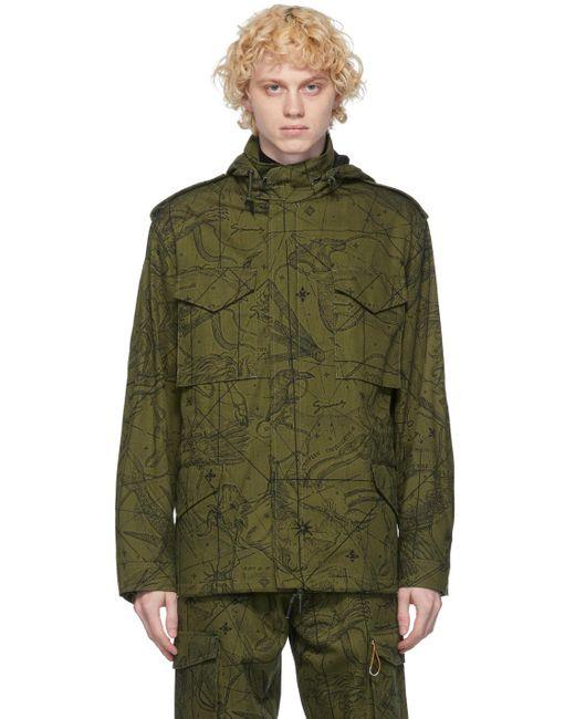 メンズ Givenchy カーキ アストラル ミリタリー ジャケット Green