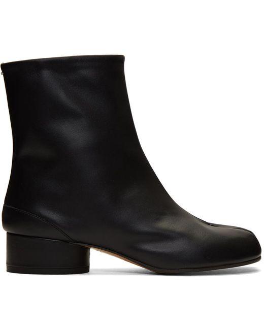 Maison Margiela ブラック ロー ヒール Tabi 足袋 ブーツ Black