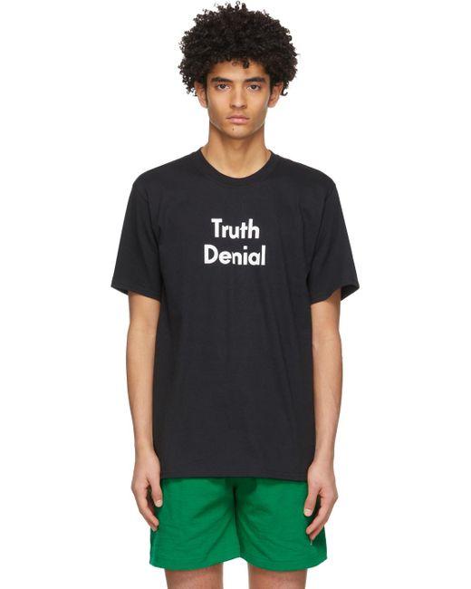 メンズ Noah NYC New Order エディション ブラック Truth Denial T シャツ Black