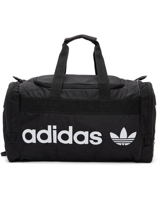 メンズ Adidas Originals ブラック & ホワイト Santiago 2 ダッフル バッグ Black