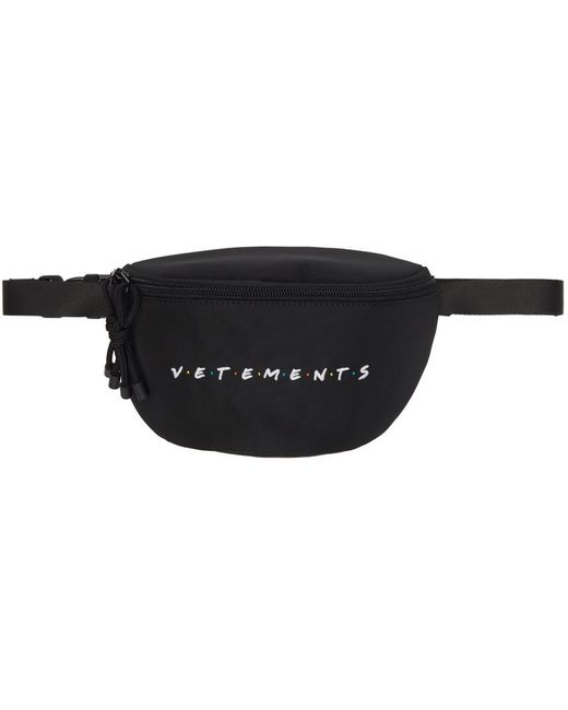Vetements Black Friendly Logo Fanny Pack for men