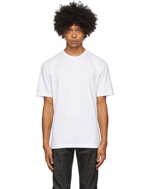 メンズ Acne ホワイト スリム フィット T シャツ White