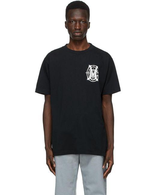 メンズ Marcelo Burlon ホワイト モノグラム T シャツ Black