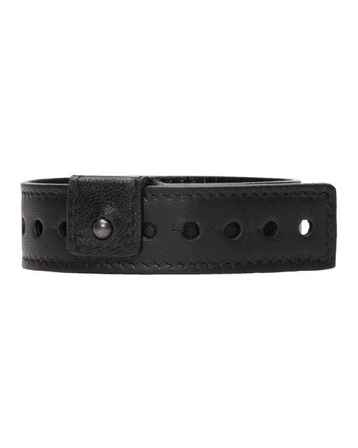 361ab1b4e8b72 ... Balenciaga - Black Leather Party Bracelet for Men - Lyst ...