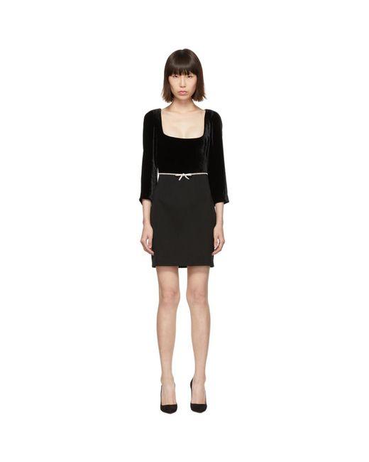 Miu Miu ブラック ベルベット ドレス Black