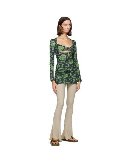 CHARLOTTE KNOWLES Ssense 限定 ブラック And グリーン Scant ドレス Green