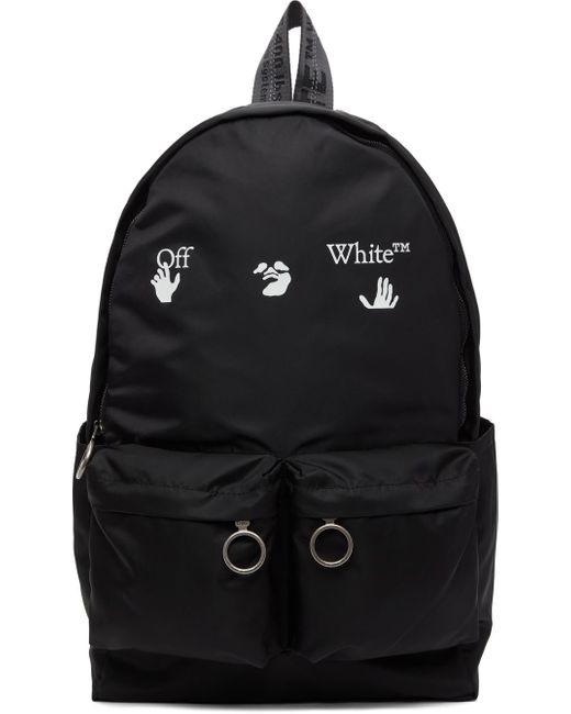 Off-White c/o Virgil Abloh ブラック ロゴ バックパック Black