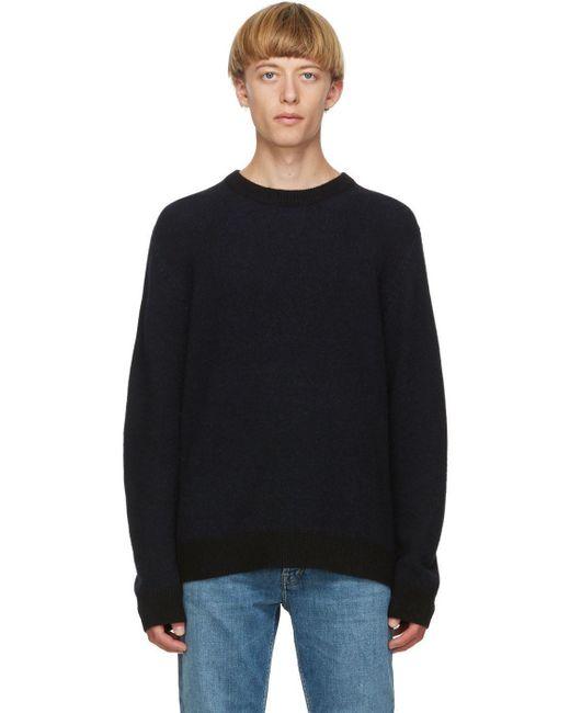 メンズ Acne ブラック カシミア セーター Black