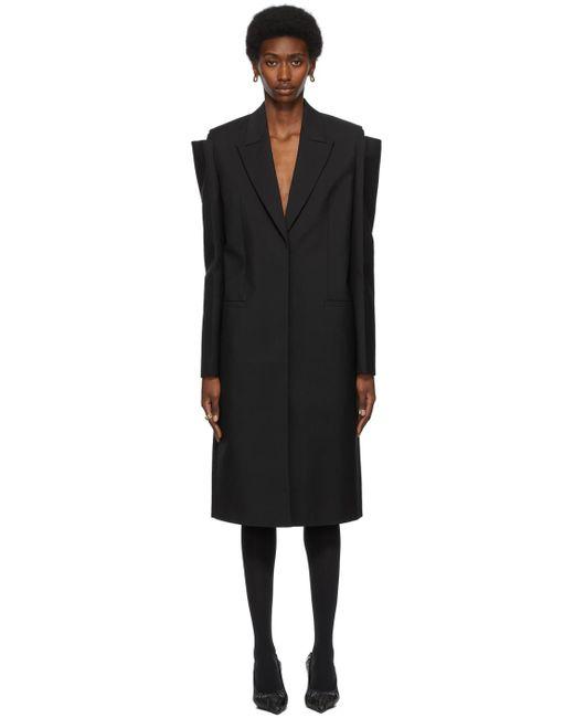 Givenchy ブラック オーバーサイズ コート Black