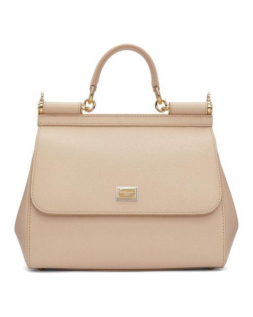 Dolce & Gabbana - Natural Pink Medium Miss Sicily Bag - Lyst