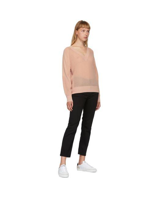 Rag & Bone ピンク Adaya V ネック セーター Pink