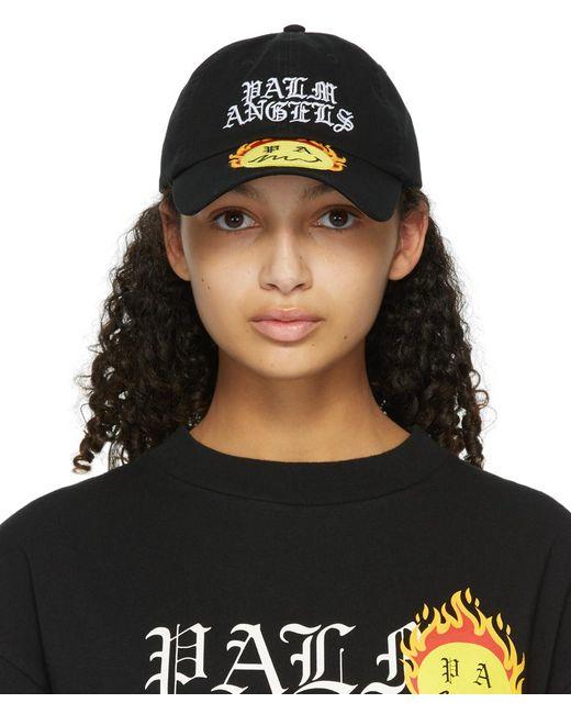 Palm Angels Smiley Edition ブラック Burning キャップ Black