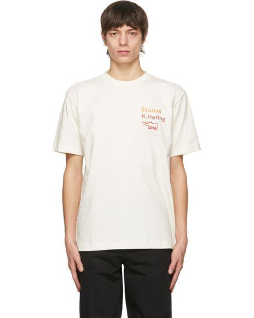 メンズ Etudes Studio Keith Haring エディション オフホワイト Wonder T シャツ White