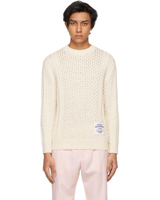 メンズ Stella McCartney Shared コレクション オフホワイト Obs 23 Aran セーター Natural