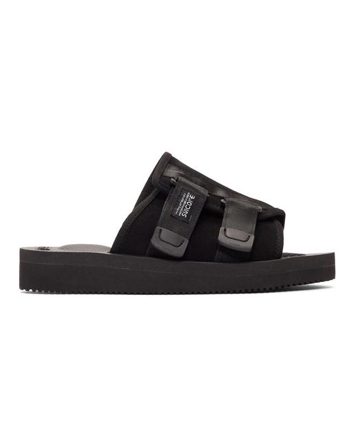 c0c494cc3898 Suicoke Black Suede Kaw-vs Sandals in Black for Men - Lyst