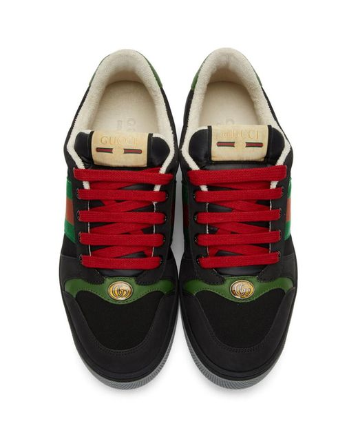 Gucci Virtus Suede Trainers in Black