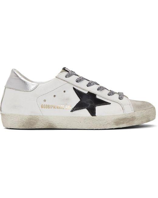 Golden Goose Deluxe Brand Metallic Ssense Exclusive White Superstar Sneakers