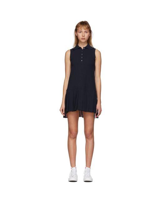 Thom Browne ネイビー ノースリーブ テニス ドレス Blue