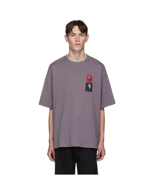 メンズ Lanvin パープル パッチ T シャツ Purple
